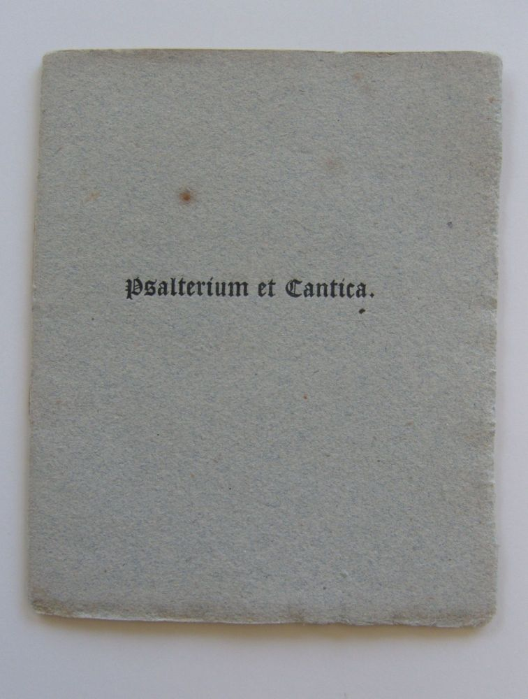 Psalterium et Cantica: some account of an illuminated psalter for the use of the convent of Saint Mary of the Virgins at Venice executed by a Venetian artist of the sixteenth century. Italian Illuminated Manuscripts, W. H. James Weale.