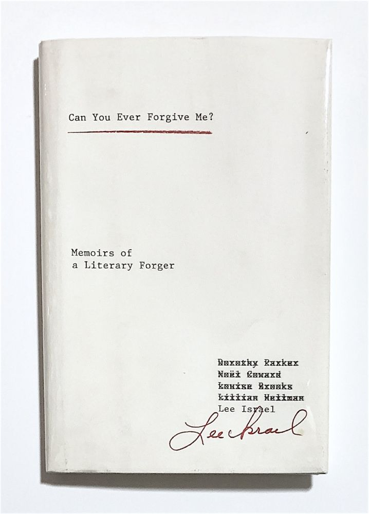 Can You Ever Forgive Me? Lee Israel.