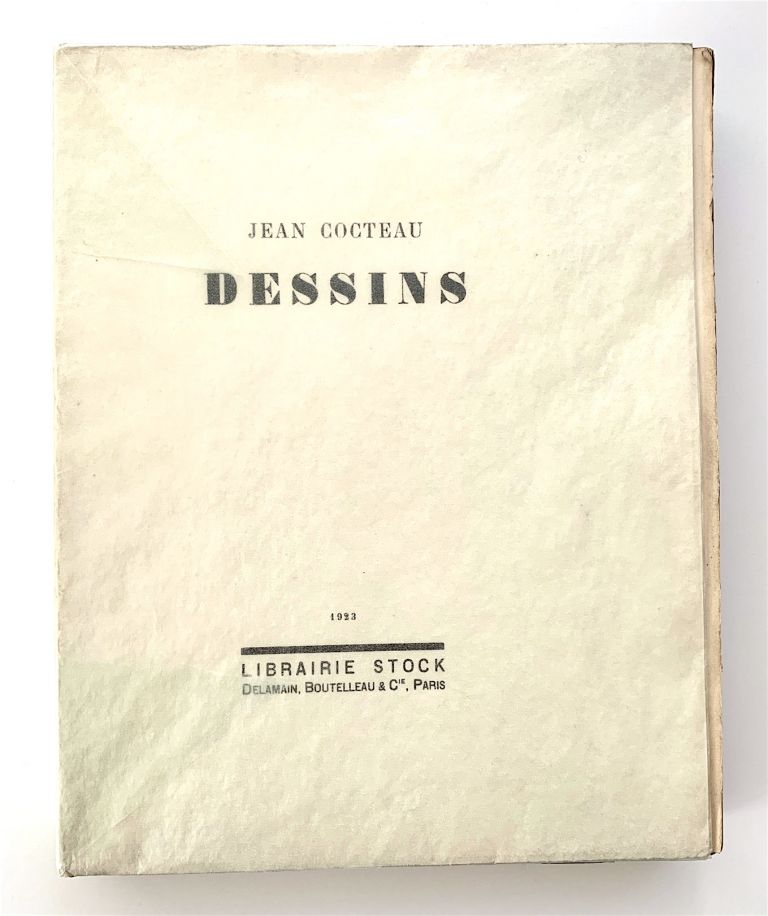 Dessins [first edition, with original drawing bound in]. Jean Cocteau.
