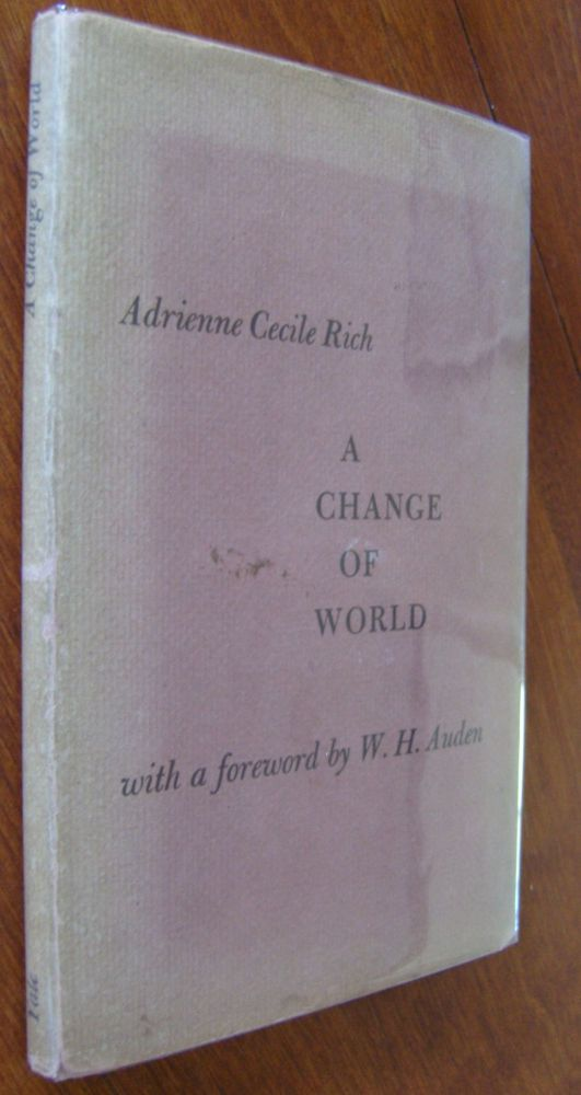 A Change of World [first edition]. Adrienne Cecile Rich.