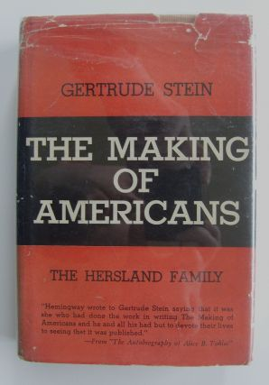 The Making of Americans [first abridged edition, in jacket]. Gertrude Stein