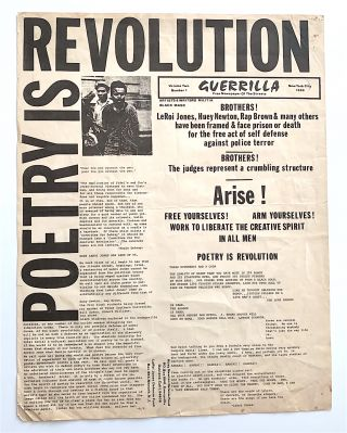 Poetry is Revolution. Volume 2, number 1. GUERRILLA. Free Newspaper of the Streets