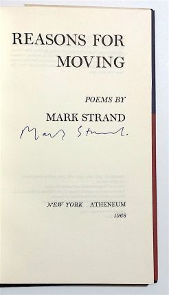 Reasons for Moving [first edition, hardcover issue, signed]