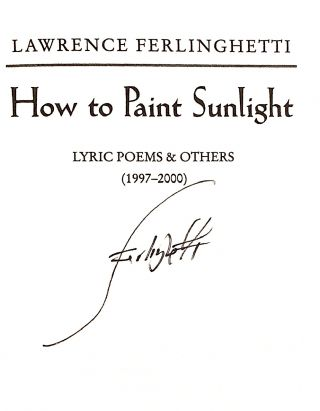 How to Paint Sunlight [first edition, signed]