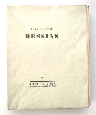 Dessins [first edition, with original drawing bound in]. Jean Cocteau