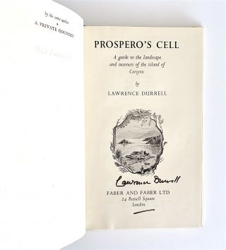 Prospero's Cell. A Guide to the Landscape and Manners of the Island of Corcyra [first edition, signed]