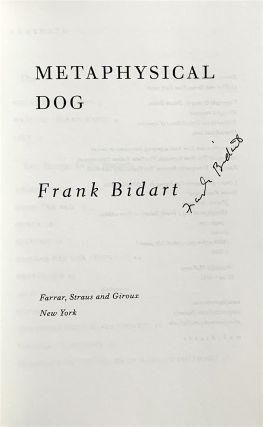 Metaphysical Dog [first edition, signed]