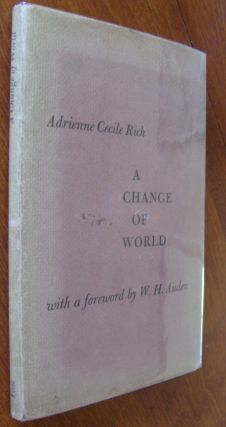 A Change of World [first edition]. Adrienne Cecile Rich
