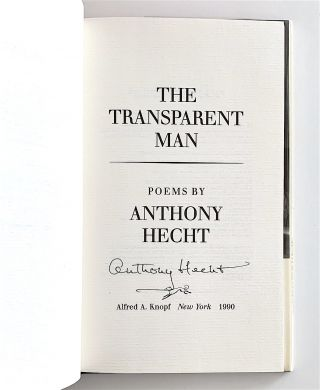 The Transparent Man [first edition, signed]