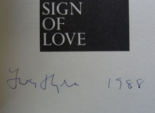 This Error is the Sign of Love [first edition, signed]